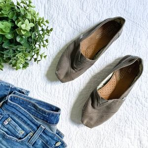 Gray Toms Classic Canvas